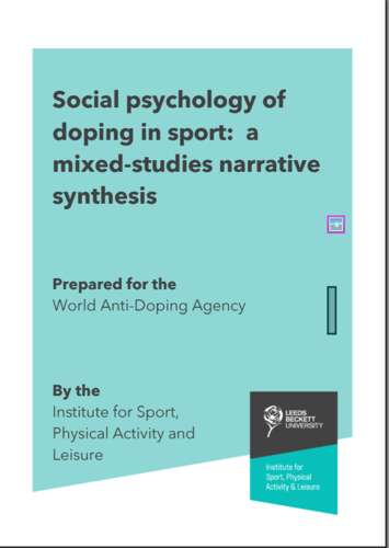 Social psychology of doping in sport 355x500